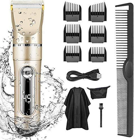 Professional Hair Clippers for Men Rechargeable Led Display Five Speed Adjustment - Beautyshop.ie