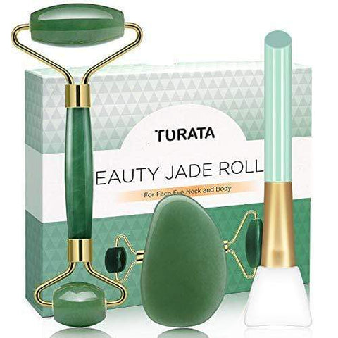 Jade Roller Gua Sha Scraping 4 Piece Tool Set