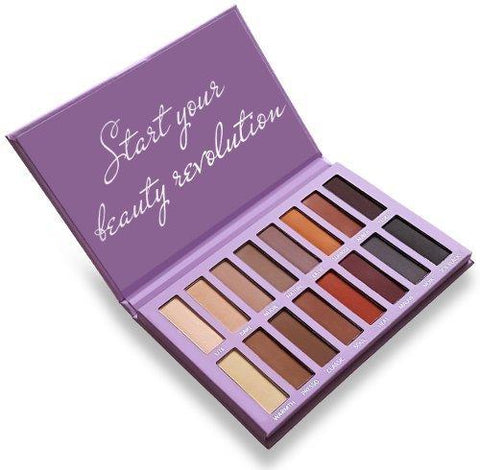 Best Pro Eyeshadow Palette Makeup - Matte + Shimmer 16 Colours - Highly Pigmented - Beautyshop.ie