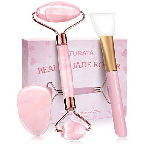 Set di attrezzi da 4 pezzi raschiati in giada Roller Gua Sha - Beautyshop.ie