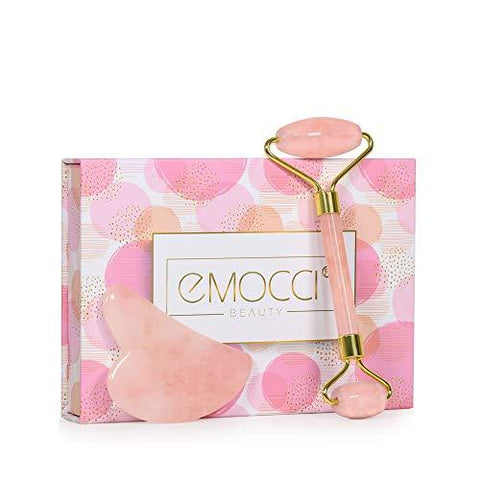 Rose Quartz Jade Face Roller (rosa eller grön) - Beautyshop.ie