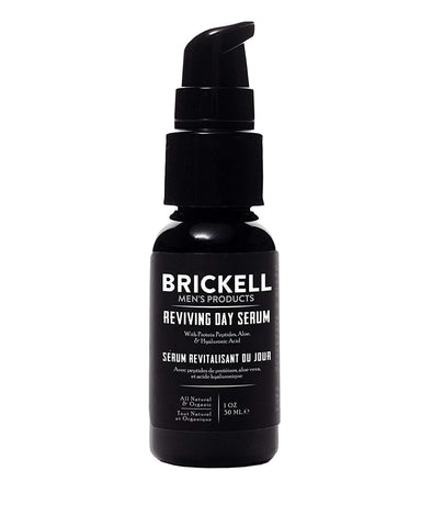 Brickell Men's Anti Ageing Reviving Day Face Serum for Men (30ml)