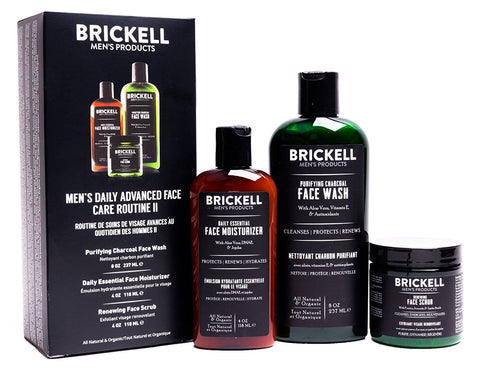 Brickell Men's Organic  Daily Advanced Face Care Routine II