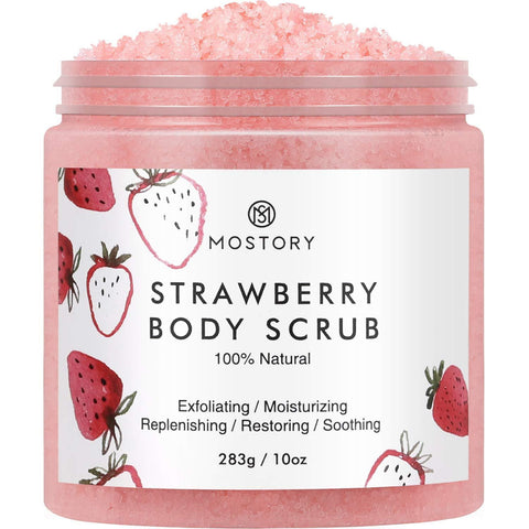 Organic Sweet Strawberry Exfoliating Body Scrub (283g) - Beautyshop.ie