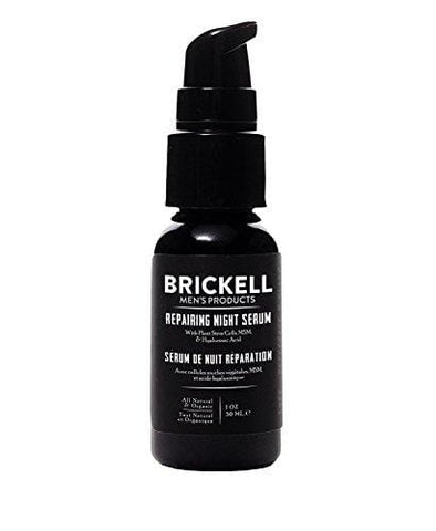 Brickell Men's Organic Repairing Night Serum - 30ml