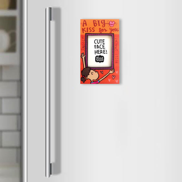 Big Kiss! Refrigerator Magnetic Frame SMALL