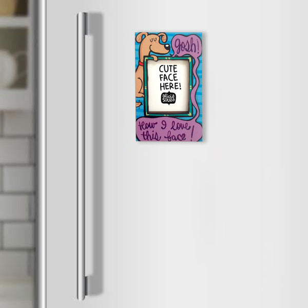 Love this face!-Refrigerator magnetic frame SMALL