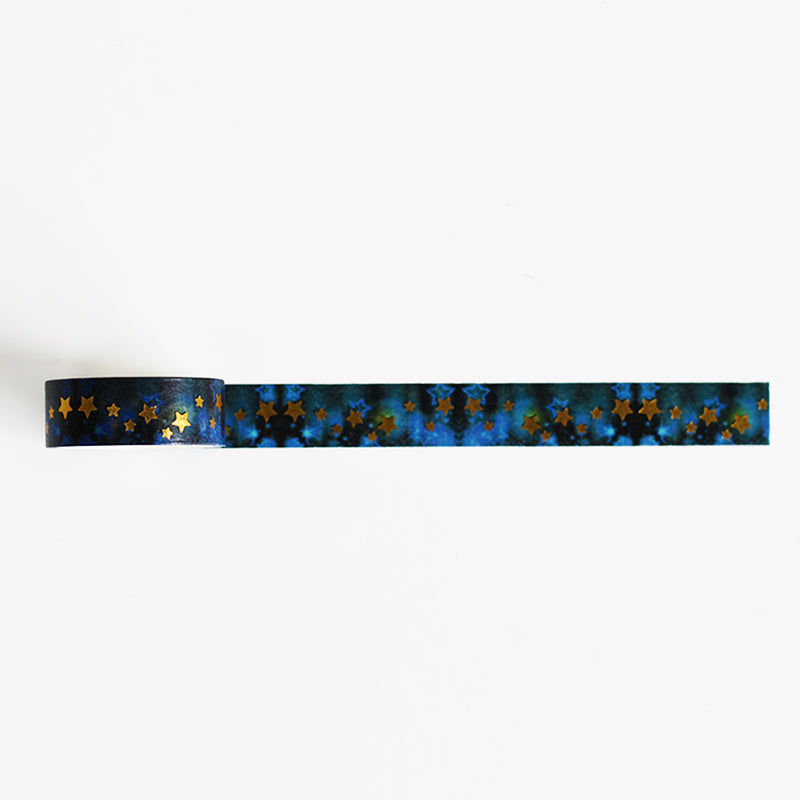 Blue Gold Stars Washi Tape