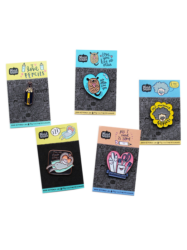 Enamel Pins - Pack of 5