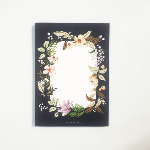 Notepad Small | Floral Frame - TheInkBucketstore
