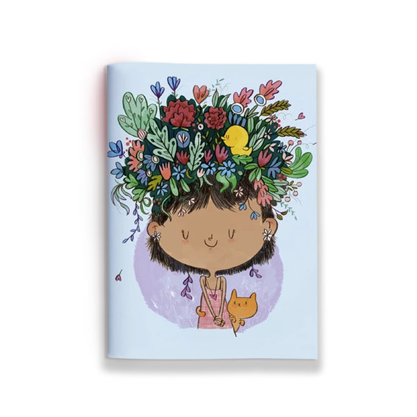 Flowers On Head Jotbook