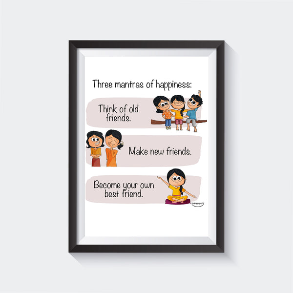 Mantras Of Happiness Wall Art