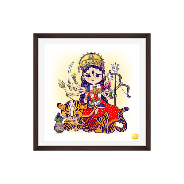 Gold Foiled Durga Wall Art