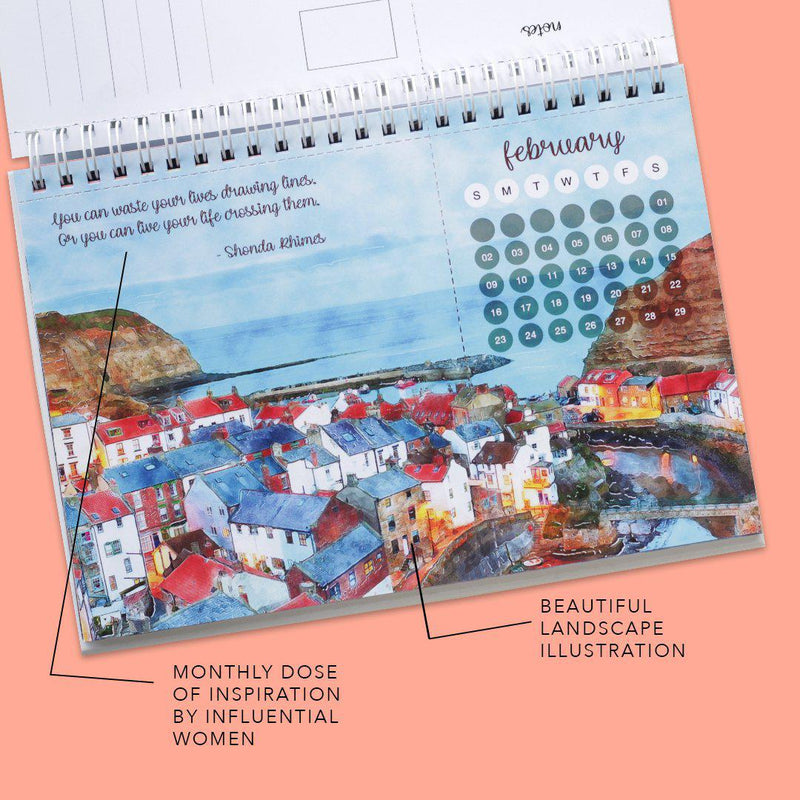Pre Order - Explore 2020 Desk Calendar-Calendar-Happy Wagon-Happy Wagon