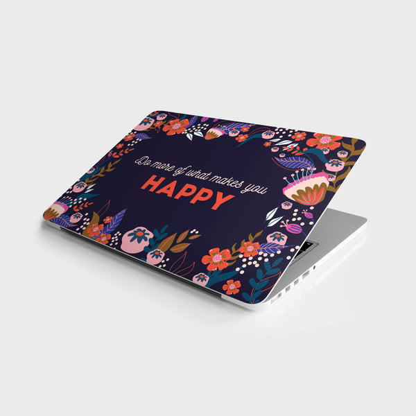 Happy Florals Laptop Skin