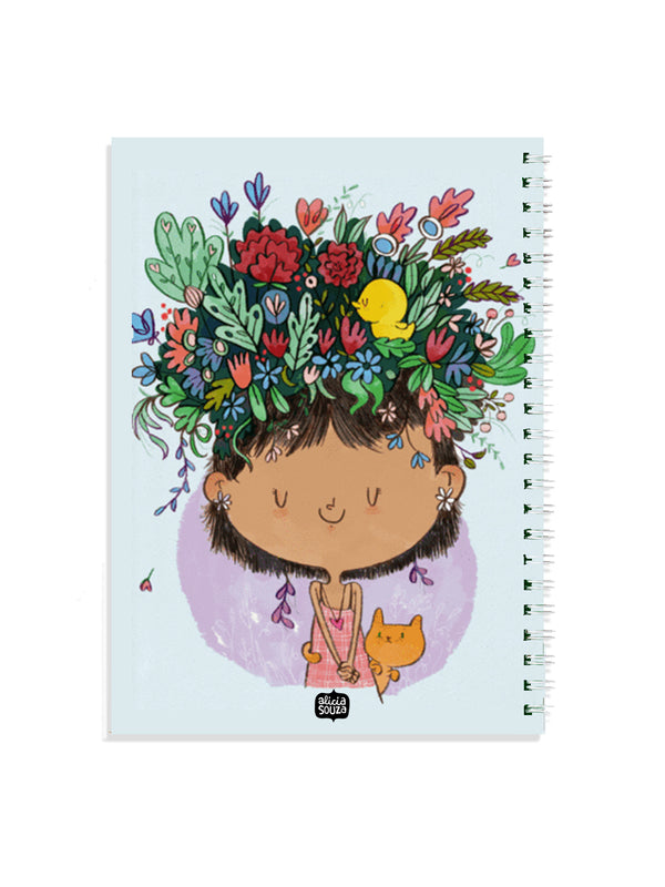 Flower on the head Notebook