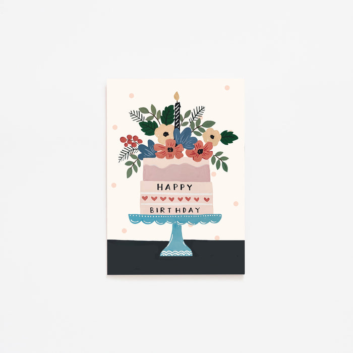 Greeting Card | Happy Birthday Cake