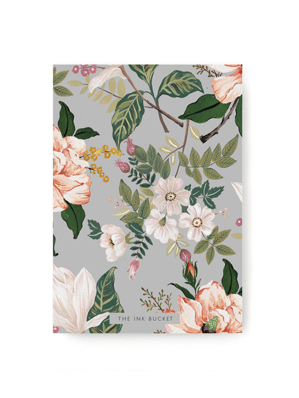 Grey Floral Notebook
