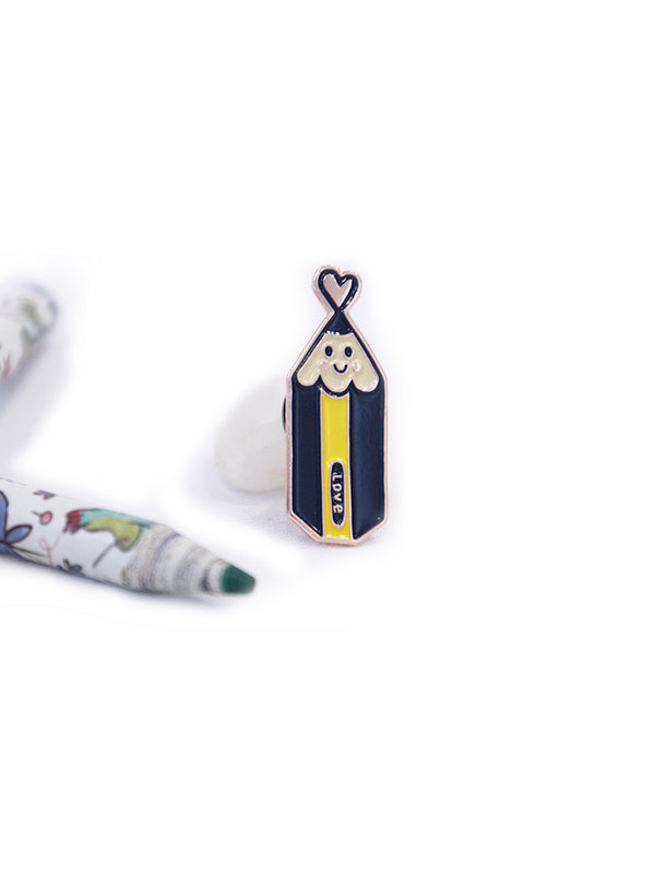 I Love Pencil Enamel Pin