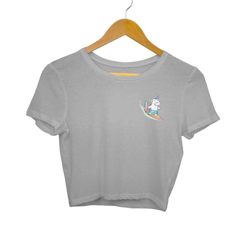 Unicorn Surfer Crop Top