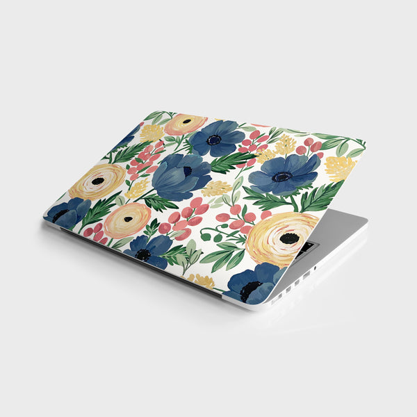 Rananculus and Anemone Laptop Skin