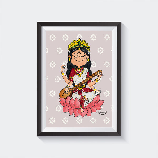 Goddess Saraswati Wall Art
