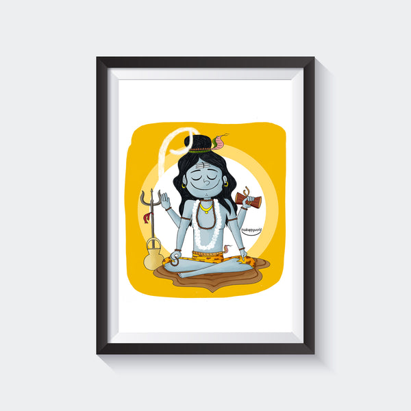God Shiva Wall Art