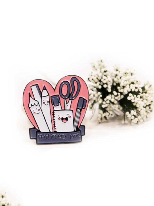 Stationery Love Enamel Pin