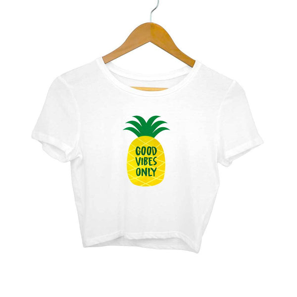 Good Vibes Only Crop Top