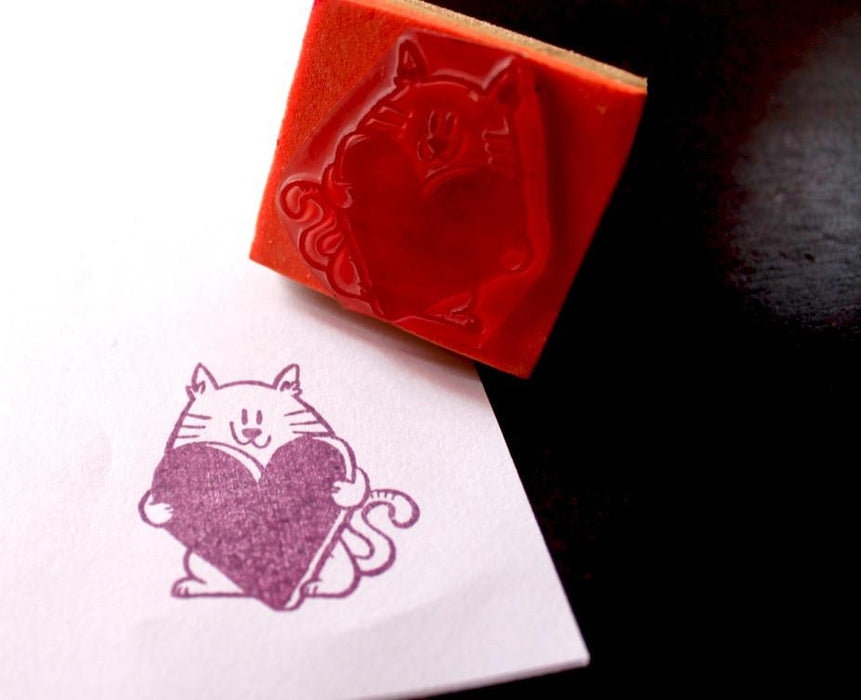 Cat Got My Heart Stamp