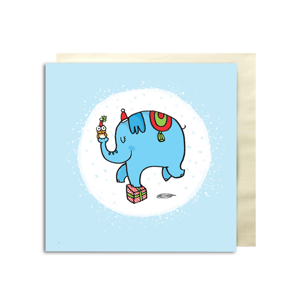Christmas Elephant Premium Card - Alicia Souza