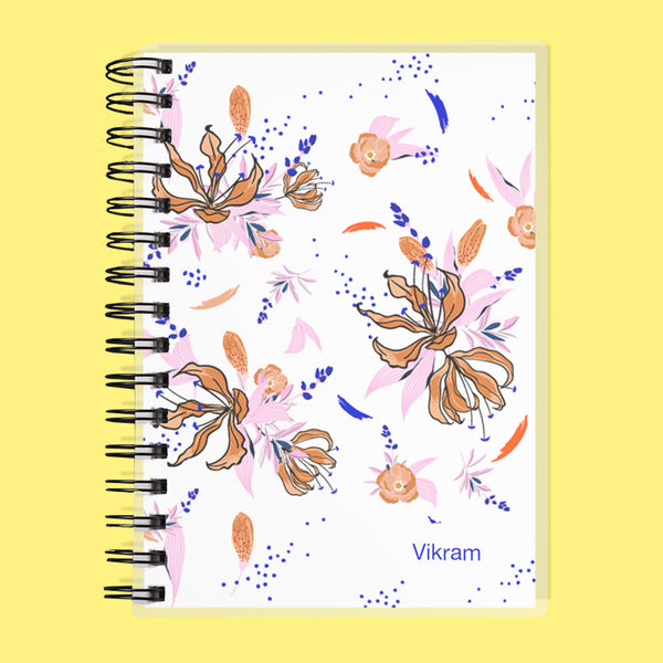 Custom Name Floral Undated Planner