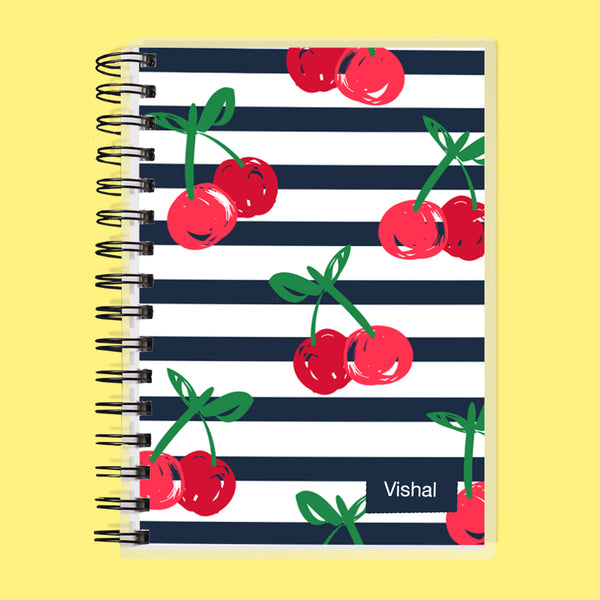 Custom Name Cherries Undated Planner