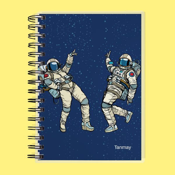 Custom Name Astronaut Undated Planner