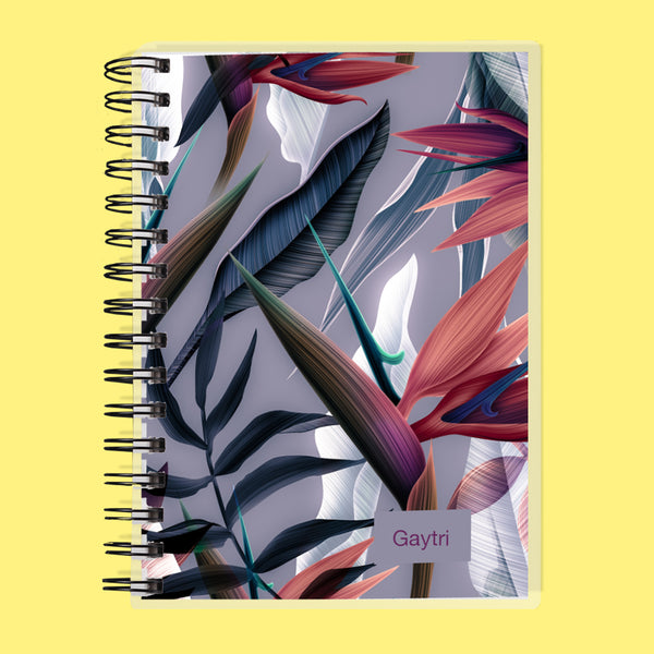 Custom Name Dragon Flower Undated Planner
