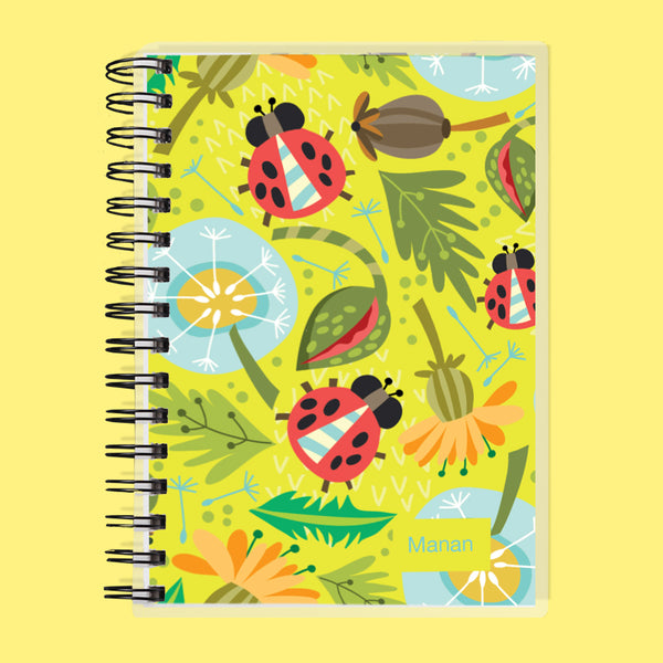 Custom Name Ladybug Undated Planner