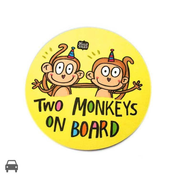Decal - Two Monkeys On Board Decal