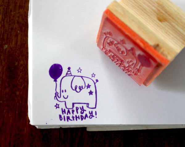 Elephant Birthday Stamp