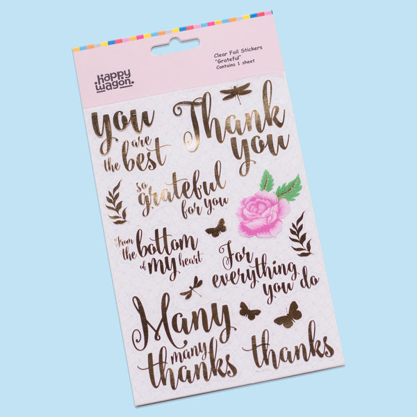 Grateful Gold Foil Stickers