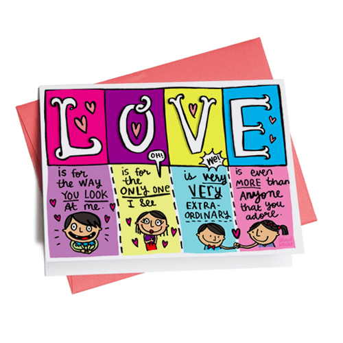 Greeting Cards - LOVE Love Greeting