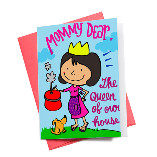 Greeting Cards - Mummy Dear Greeting