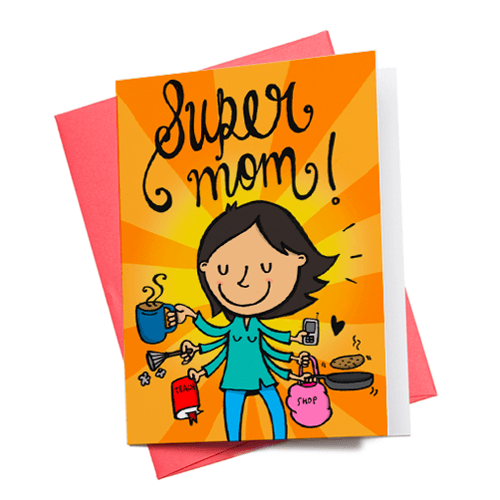 Greeting Cards - Super Mom Greeting