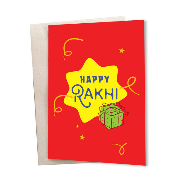 Happy Rakhi Greeting Card
