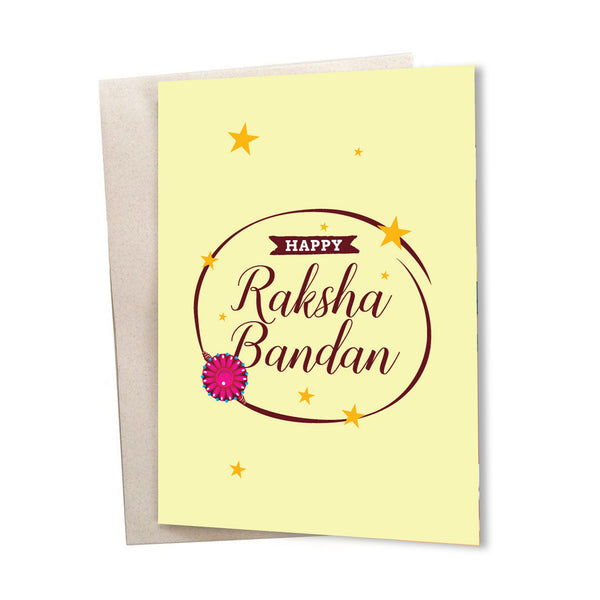 Raksha Bandhan Stars Greeting Card