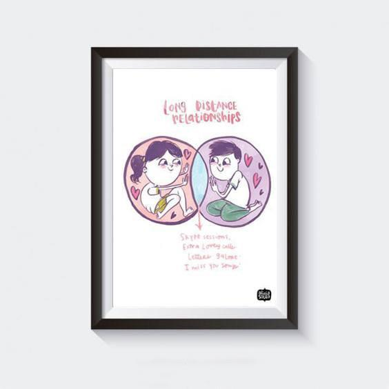Prints - Distance Love Wall Art
