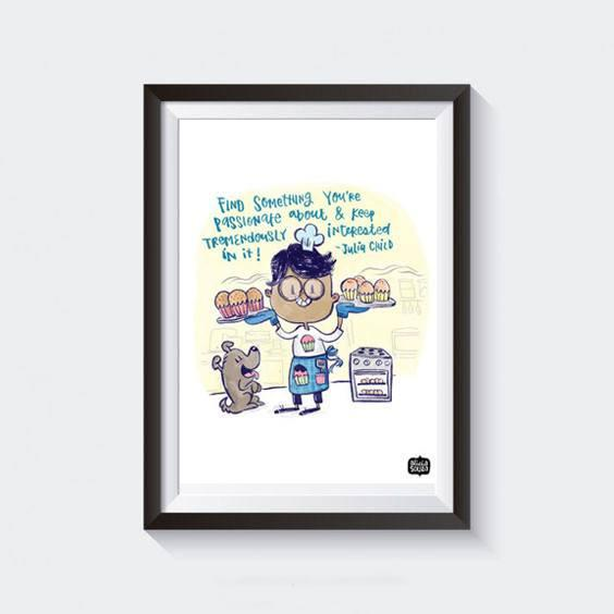 Prints - Dog And A Cook Wall Art
