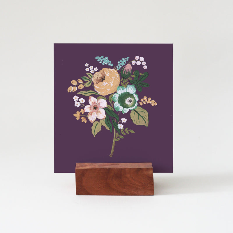 Mini Prints on a Wooden Stand | Set of 10