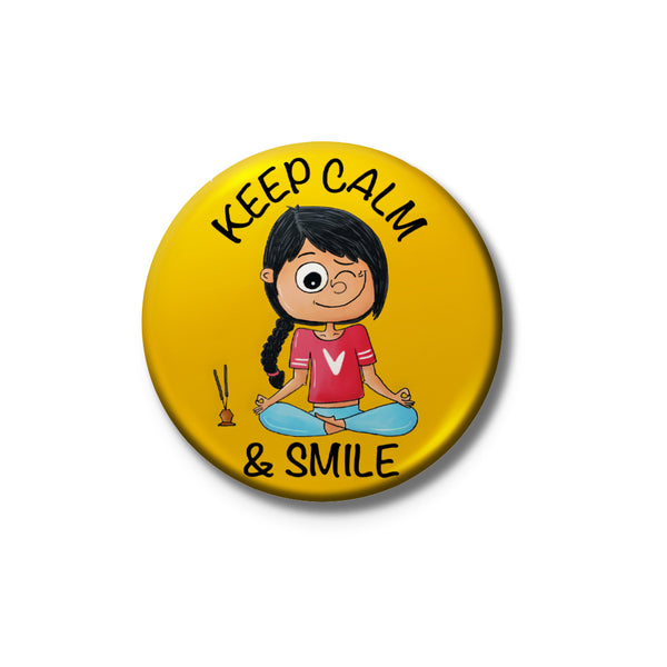 Keep Calm And Smile Badge