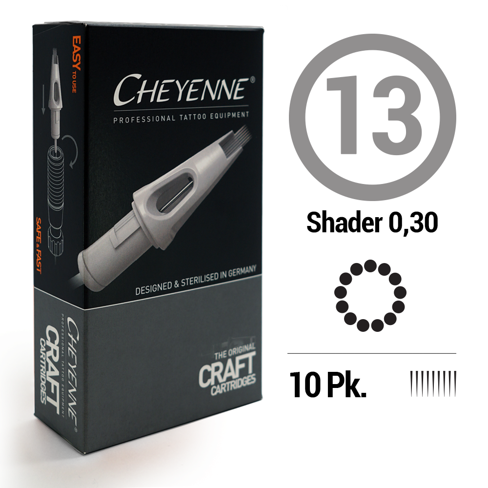 13 Shader Tattoo Craft Cartridge Needle