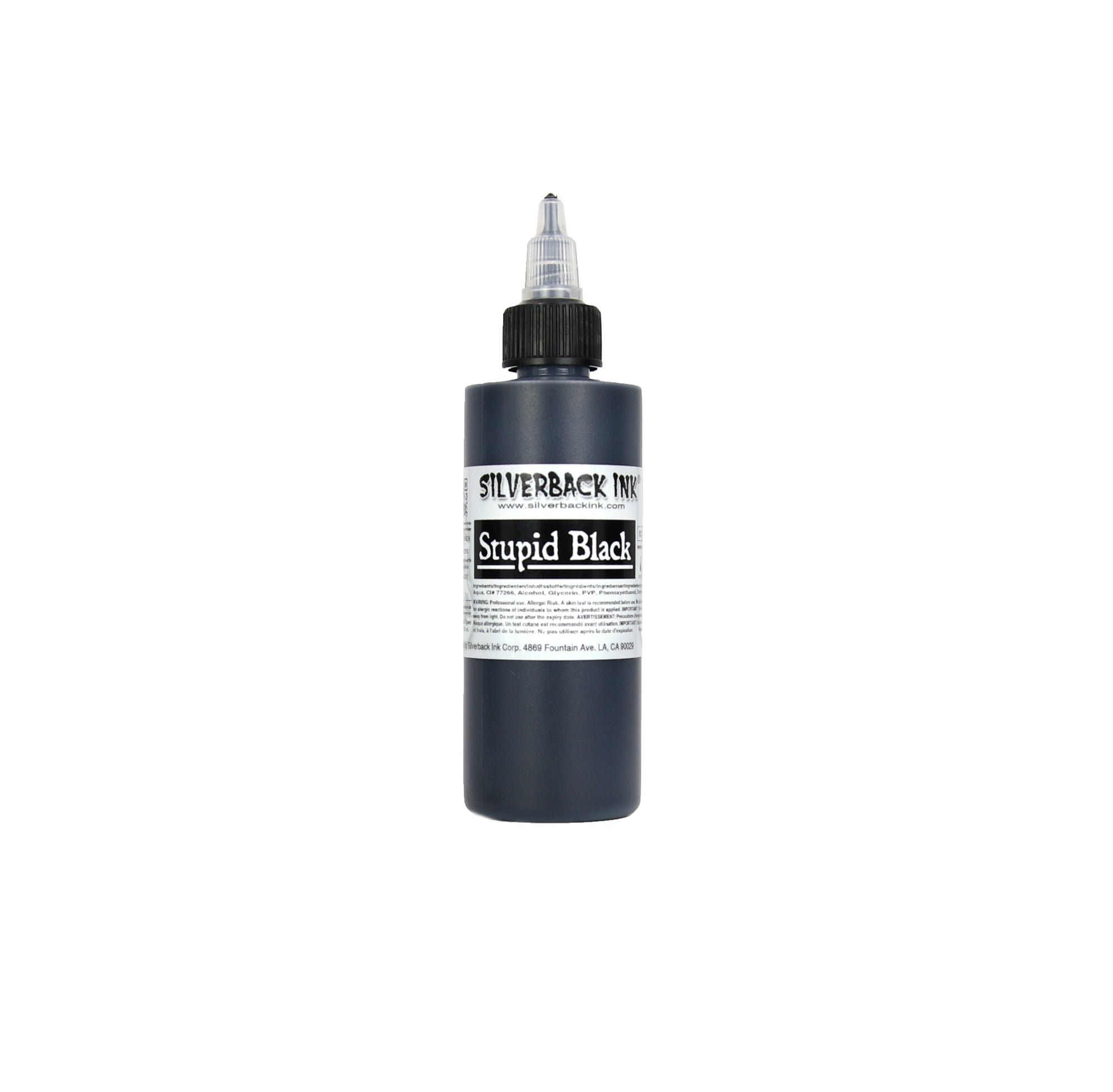 Silverback Ink Stupid Black - 4oz Bottle